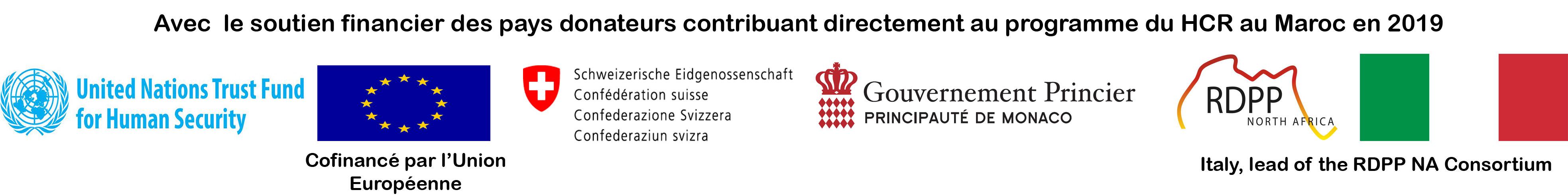avec le soutien financier des pays donateurs