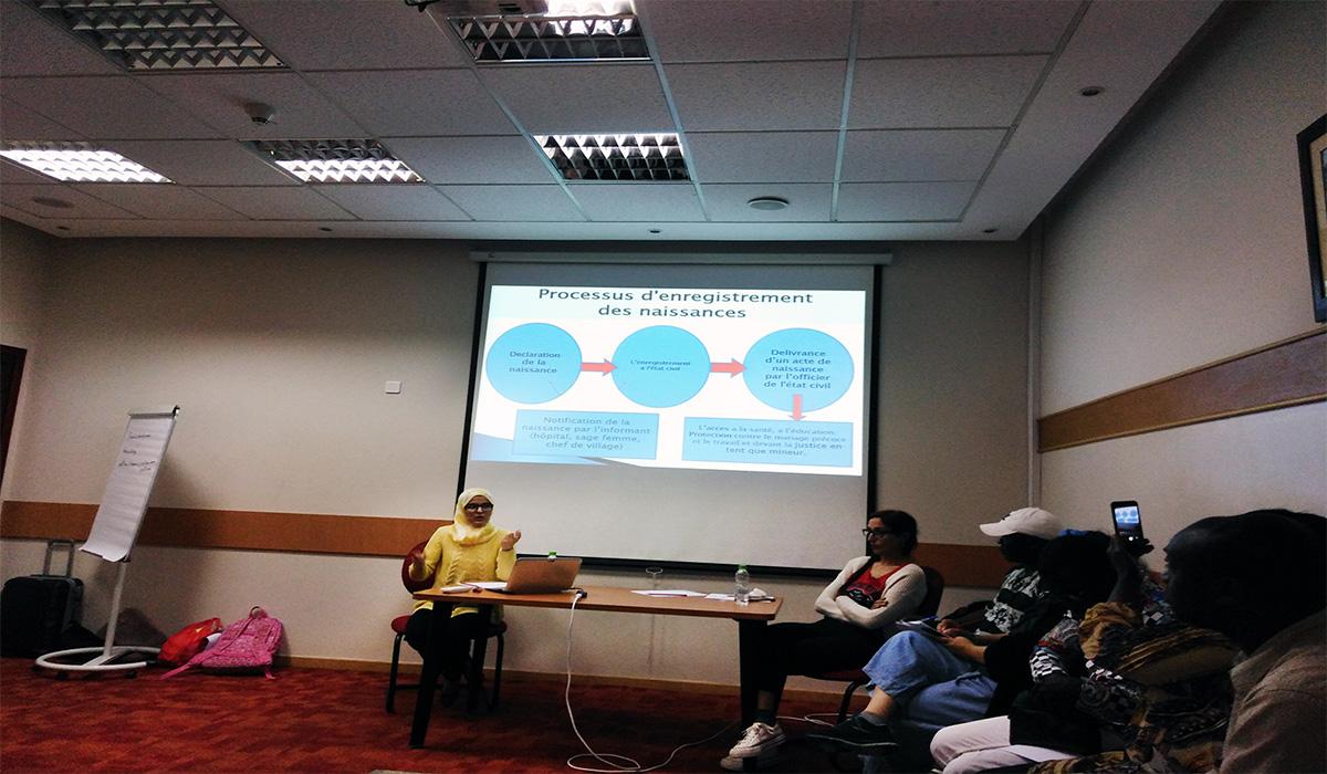 Atelier de formation parcours migratoires de référencement et procédures - Tanger